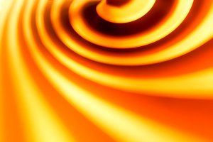 Orange swirl abstract bokeh background