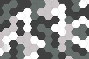 Vector of hexagon Camo Background