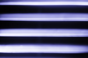 Horizontal purple lines bokeh background