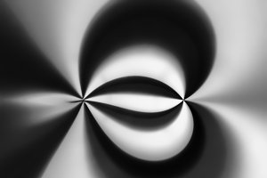 Black and white dark swirl bokeh background