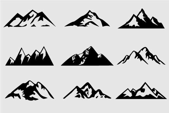 Mountain Shapes For Logos Vol 4 Shapes For Graphic