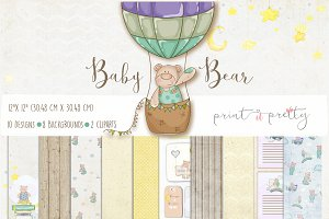 Baby Bear Digital Paper