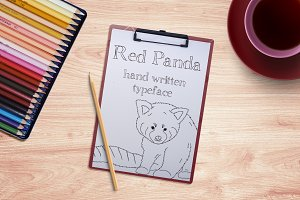 Red Panda - Font No.17
