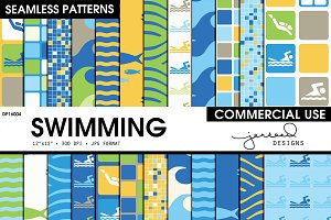 Swimming Seamless Patterns | DP16013