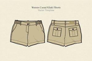 Women Casual Khaki Shorts