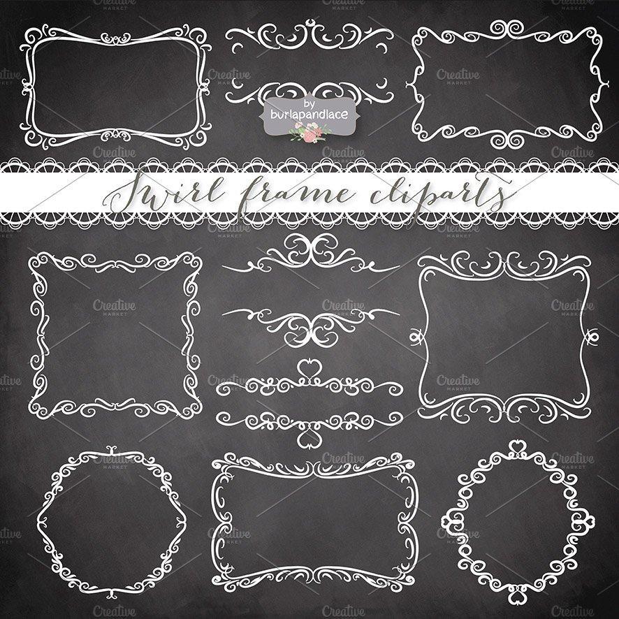 Vector chalkboard frames ~ Illustrations ~ Creative Market