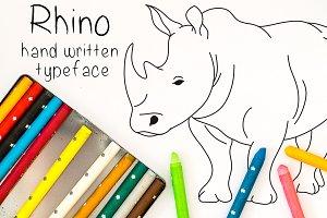 Rhino - Font No.22
