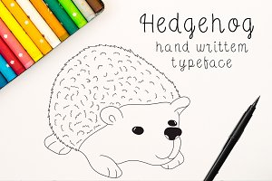 Hedgehog -Font No.25