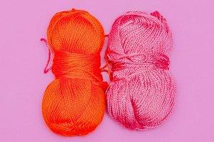 Yarn. Hobby. Minimal art