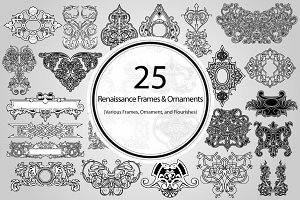 25 Renaissance Frames and Ornaments