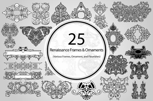 25 Renaissance Frames and Ornaments ~ Graphic Objects ~ Creative Market