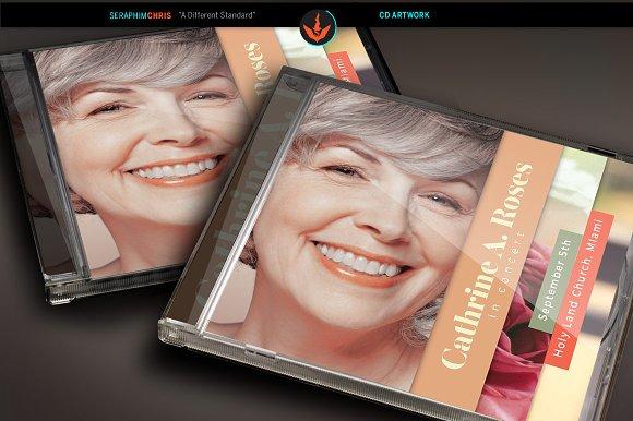 Red Rose CD Artwork Template