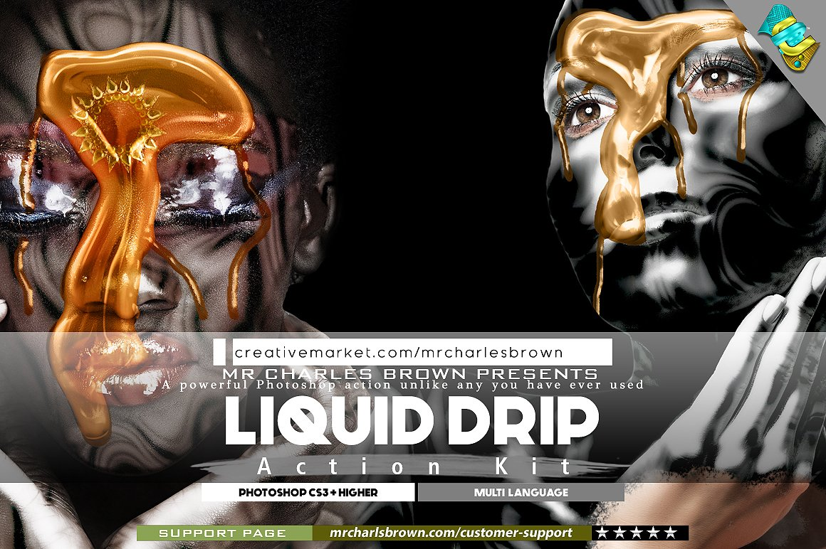 Liquid Drip Action Kit Actions Creative Market
