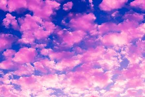 Pink clouds background.