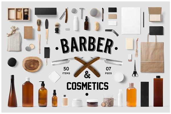 Barber & Cosmetics Branding Mock-Up