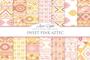 Sweet Aztec Digital Paper