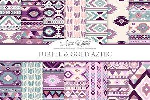 Purple Aztec Digital Paper