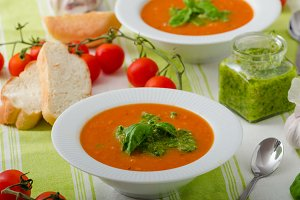 Tomato soup with gremolata