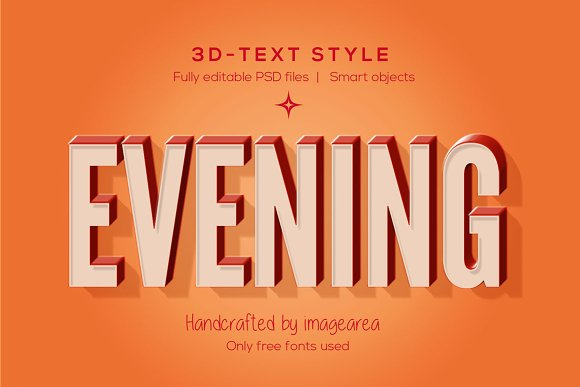 3D Text Styles Layer Creative Market