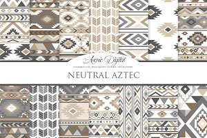 Neutral Aztec Digital Paper