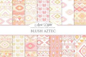 Blush Aztec Digital Paper