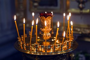 candles standing in the Golden candlestick