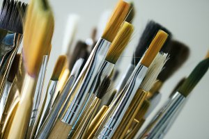 Paint Brushes- Close up