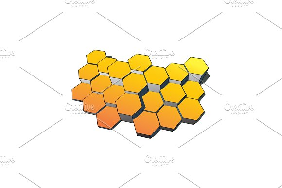 Hexagons Technology And Communication Background Vector Illustration Eps10