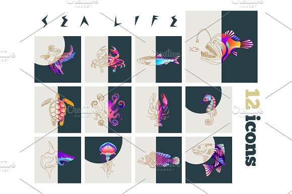 Fish Sea Life Icons