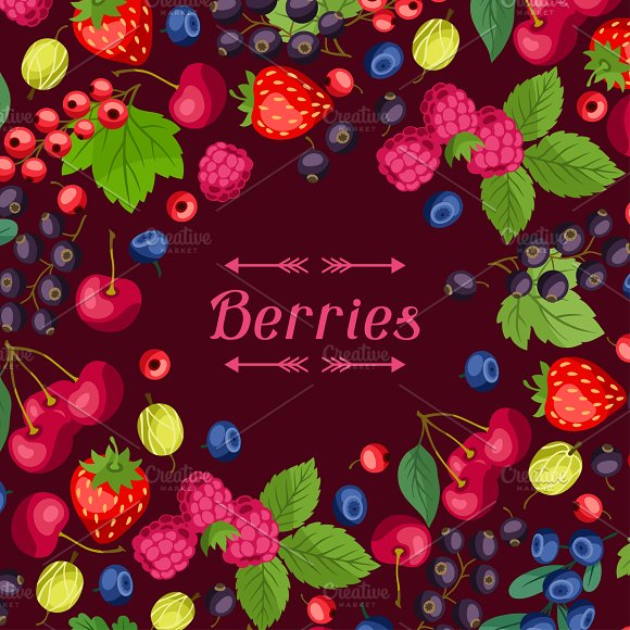 Nature background with berries.