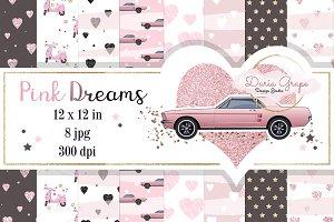 "Digital Paper ""Pink Dreams"""