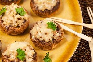 Vegetarian Stuffed Mushrooms