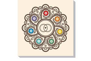 Mandala for wedding invitation