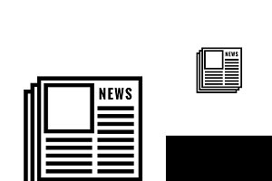 Newspaper Vector Black and White