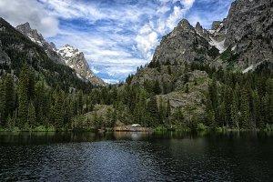 Majestic Mountains Around Lake