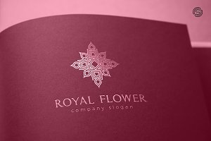Royal Flower Logo Template
