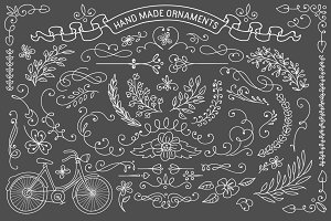 Rustic ornaments.Vector clipart