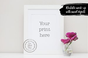 Styled Frame Mockup - orchids