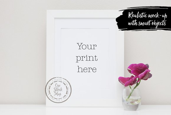 Styled Frame Mockup Orchids