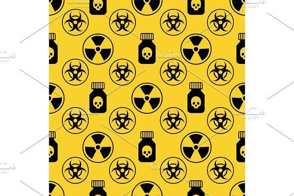 Danger Seamless Pattern On Yellow Background