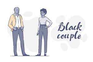 Black couple together