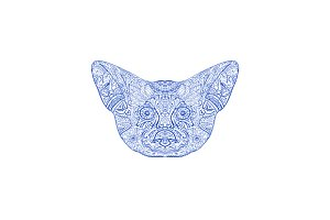 Fennec Fox Head Mandala