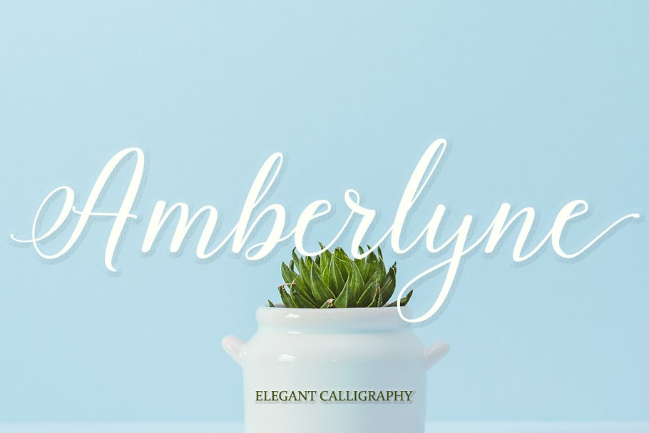 Best Amberlyne Script (25% Off) Vector