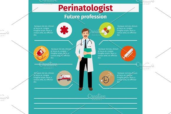 Future profession perinatologist infographic