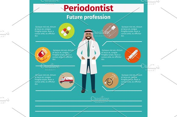 Future profession periodontist infographic