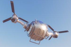Futuristic Cargo Drone 3d model vray