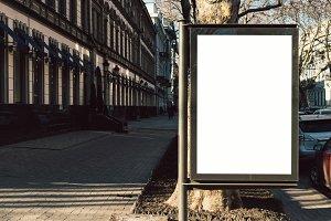 Advertising blank display