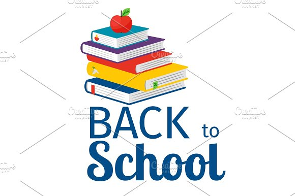 Back To School With Books Icon