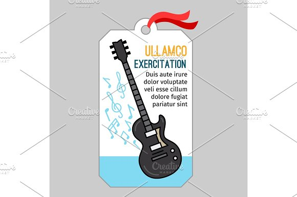 Music Tag With Guitar