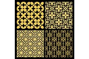 Golden spanish traditional kitchen tiles